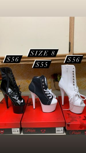Size 8 Pleaser Boots - stripper pole dance heels for Sale in Moreno Valley, CA