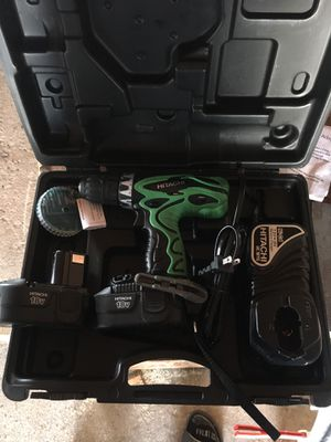 Drill and impact Hitachi 4 batteries 3 chargers for Sale in Rock Island, IL