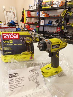 "NEW RYOBI 18 VOLT 3 SPEED 3/8"" IMPACT WRENCH 150 FT LB TORQUE (TOOL ONLY)! for Sale in San Bernardino, CA"