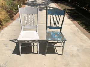 2 Antique painted chairs for Sale in Santa Monica, CA