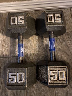 50 lbs dumbbell set (2) **NEW** PLEASE READ for Sale in Reedley, CA