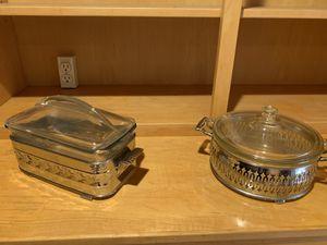 Pyrex in silver cradles for Sale in Phoenix, AZ