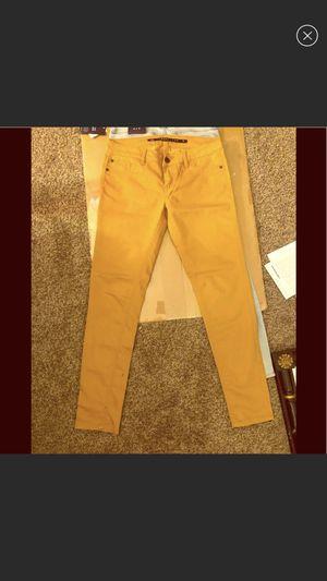Size 27/4 skinny jeans in peach / mustard color for Sale in Alexandria, VA