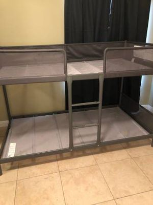 Ikea 2 Tier Children Bunkbed Bunk Twin Sz Size Bed Frame Bedframe + Ladder INCLUDED (Mattress EXTRA $55) for Sale in Monterey Park, CA