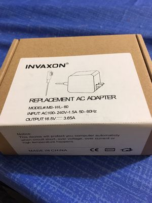 NVAXON Replacement AC Adapter 60W MS-WL-60 Replacement For Apple MacBook Pro for Sale in Neosho, MO