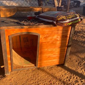 Dog House And 30 Foot Dog Chain for Sale in Perris, CA