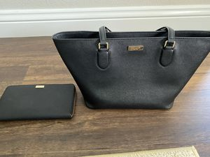New Kate Spade Black Tote Bag With Matching Wallet for Sale in Tustin, CA