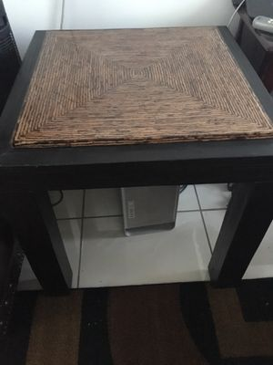 Black marble and wood table for Sale in Los Angeles, CA