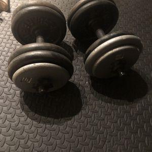 dumbbells 100 pounds for Sale in Arlington, TX