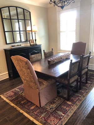 Beautiful Antique Dining Table and 6 chairs for Sale in Wimberley, TX