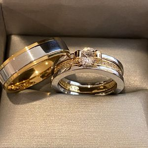 18K Gold plated Engagement/Wedding Matching Ring Set- Code KX101 for Sale in San Jose, CA