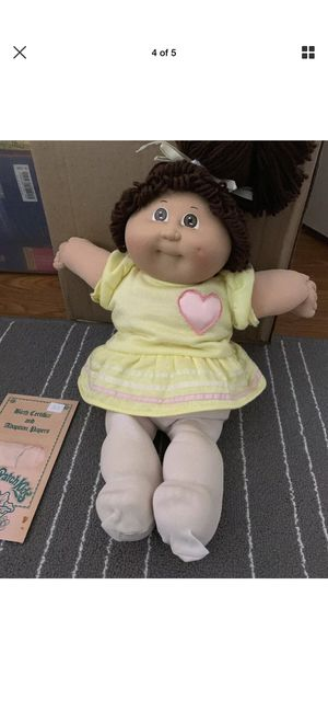 Cabbage Patch Kids VTG TOOTH HM5 '86 DOLL Brown single pony W/ Adoption Certs. for Sale for sale  Pompano Beach, FL