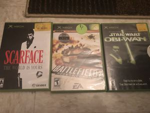 Original Xbox Scarface battlefield 2 and Star Wars for Sale for sale  Newark, NJ