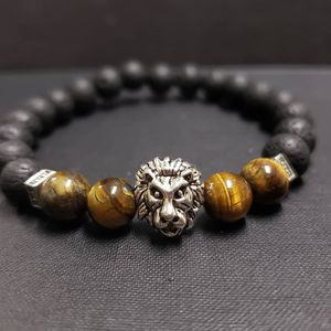 *NATURAL STONE - lion Tiger Eye Lava Rock Oil Essential Bracelet (calm emotions,remove negative energy,decision & $ making,health Benefits ) for Sale in West Covina, CA