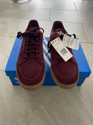 Adidas Continental 80 Maroon Cloud White Gold Mettalic BD7651 Men's size 10 for Sale in Deerfield, IL