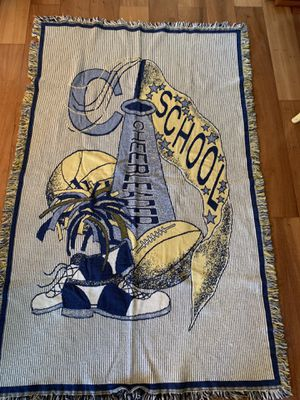 Spirit blanket throw !Attn: Cheerleaders and Football players, moms and dads. for Sale in Brentwood, CA