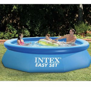 Intex 10ft x 30in Easy Set Above Ground Inflatable Round Pool for Sale in Marietta, GA