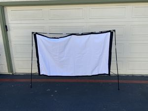 Outdoor Video Projector Screen with Stand 80 Inches - Portable Movie Projector Screen for Indoor and Outdoor Cinema Experience for Sale in Anaheim, CA