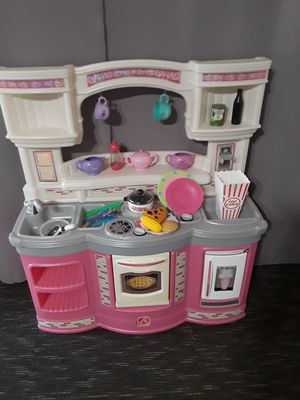Play kitchen with accessories, very clean. for Sale in Riverside, CA