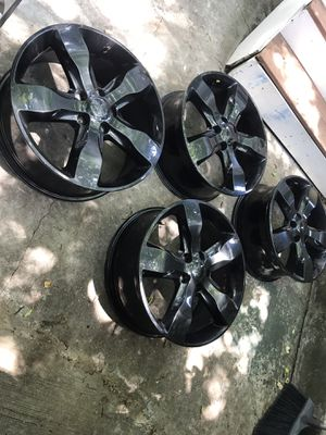 "20"" oem black rims from Jeep Grand Cherokee for Sale in Washington, DC"