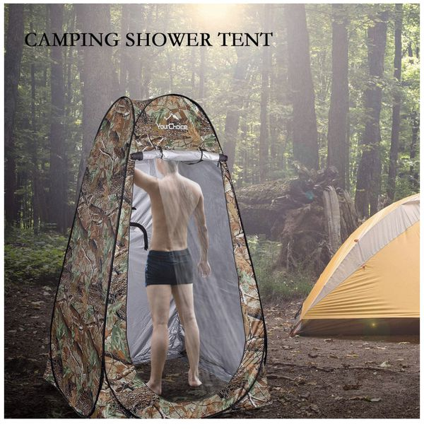 🔥Brand new! Pop Up Camping Tent Toilet Shower Beach Tent Outdoor Changing Room Camouflage