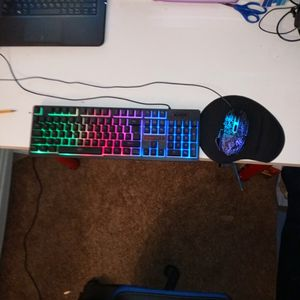 Rainbow Keyboard And Mouse Pad for Sale in Fontana, CA