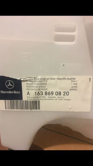 Mercedes water reservoir car part number A1638690820. OEM brand new! for Sale in Fontana, CA