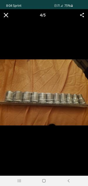 Steelman socket wrench sets 9mm- 19mm full set for Sale in Las Vegas, NV