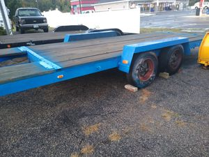 Heavy duty homemade trailer 6 ft 9 in wide, 18 ft 3 in Long ,power winch for Sale in Taunton, MA