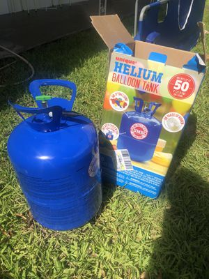 Helium tank. 50 balloons for Sale in Hollywood, FL