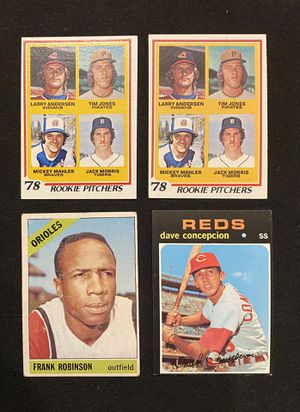 Old Vintage Baseball card lot rookies and hall of famers for Sale in Riverside, CA