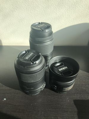 Nikon Lens Package with DSLR for Sale in Austin, TX