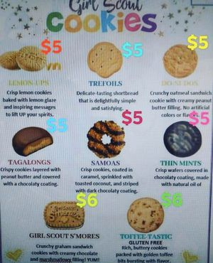 GIRL SCOUT COOKIES!!!!! for Sale in Claremont, CA