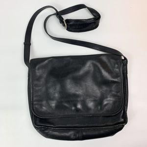 Vintage lands end leather satchel messenger bag for Sale in Mechanicsburg, PA