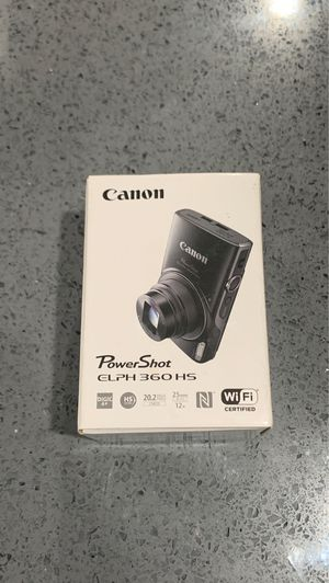 Canon PowerShot ELPH 360 Digital Camera for Sale in Sacramento, CA