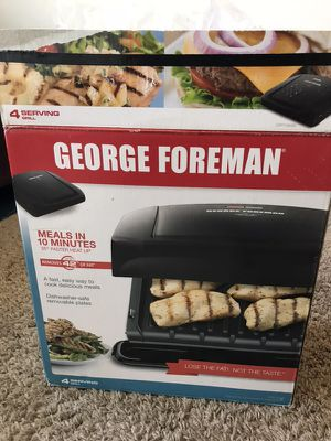 George Foreman 4-Serving Removable Plate Grill and Panini Press, Black for Sale in Germantown, MD