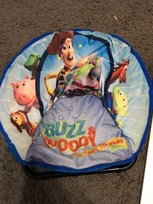 Foldable sturdy Toy Story mini saucer chair for kids for Sale in Buffalo, NY