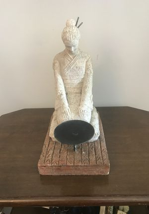 Concrete Buddha Tea Light Candle Holder Statue for Sale in Hyattsville, MD