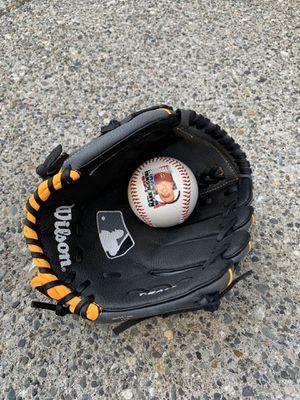 Wilson baseball glove with ball for Sale in Lynnwood, WA
