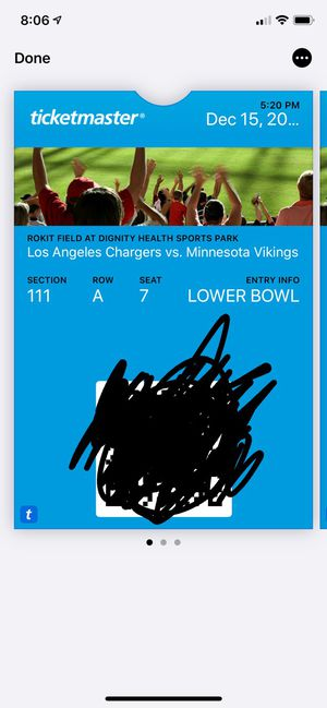 Chargers VS Vikings Tickets for Sale in El Segundo, CA