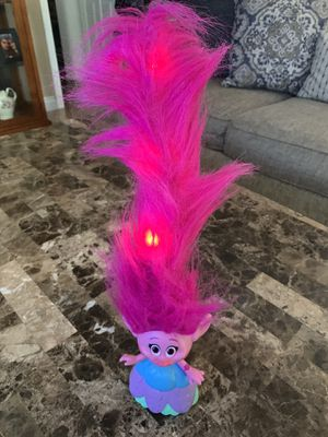 Trolls poppy light up hair for Sale in La Puente, CA