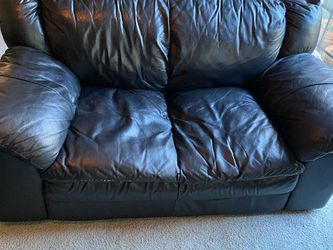 Black Leather Sofa and Loveseat (Together Or Separate) for Sale in San Ramon,  CA