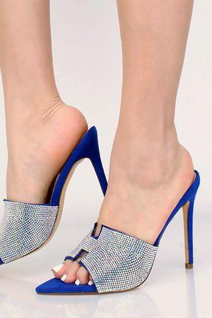NEW Blue Rhinestone Heels for Sale in Fresno, CA