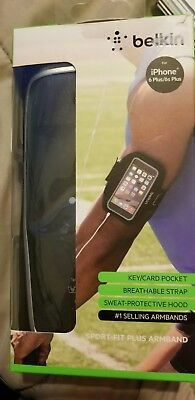 New Belkin Sport-Fit Plus Armband Black Apple iPhone 6 Plus/6s Exercising for Sale in San Marcos, CA