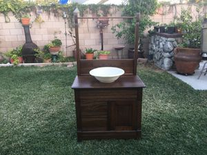 Antique vanity / washbasin with towel rack late 40s for Sale in Alta Loma, CA
