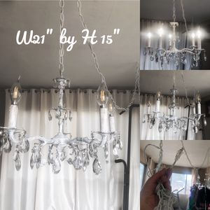 Shabby chic chandelier light for Sale in Riverside, CA