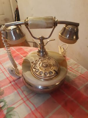 Antique telephone base made marble made in Italy for Sale in Forest Heights, MD