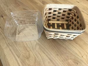Medium Size 2006 Longaberger Basket (7.5 x 7.5) With Plastic Liner American Craft Traditions for Sale in Hillsboro, OR