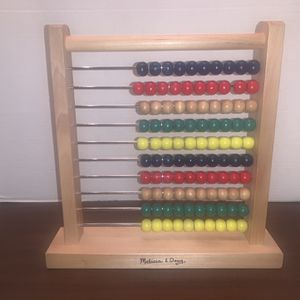 Melissa And Doug Wooden Abacus Kids Boys Girls Educational Toy for Sale in San Diego, CA