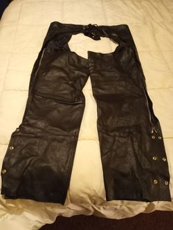 4XL leather motorcycle chaps for Sale in Yakima,  WA